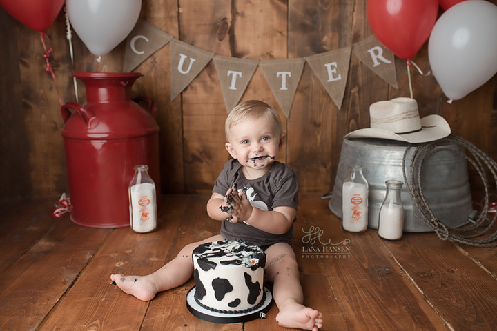 Lay Smash Cake Session {Baby Photography}