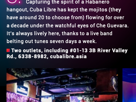 Cuba Libre Café & Bar – One of Singapore's Best Themed Bar (SG Nightlife Award 2020)
