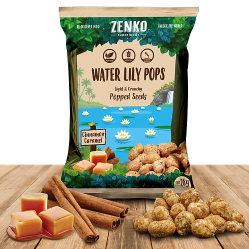 Zenko superfood water lily pops - caramel (28gm)