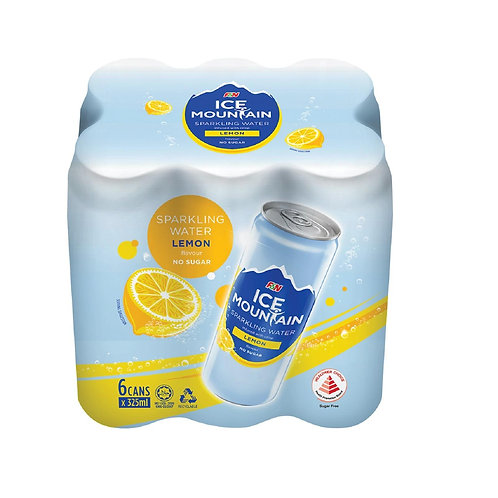 Ice mountain sparkling water - lemon (6x325ml)