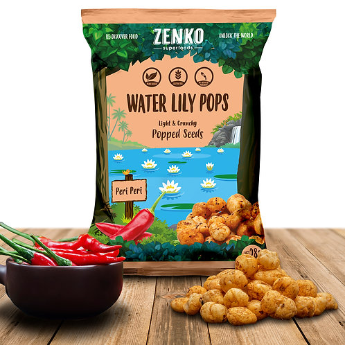 Zenko superfood water lily pops - peri peri (28gm)