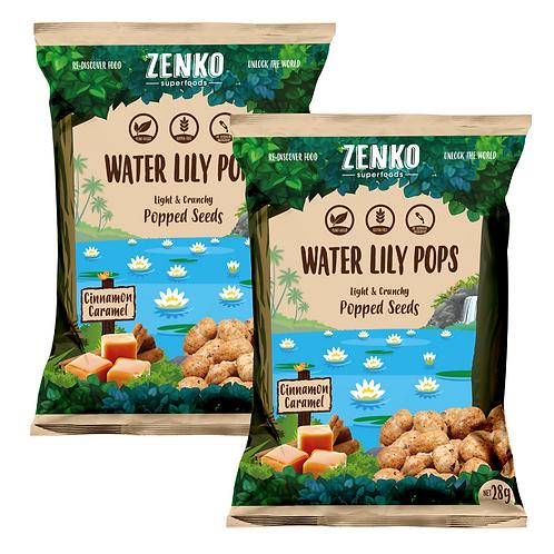 Zenko superfood water lily pops - caramel (2 x 28gm)