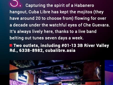 Cuba Libre Café & Bar – One of Singapore's Best Themed Bar (SG Nightlife Award 2020)