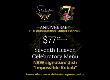 Shabestan Celebrates it's 7th Anniversary in Singapore