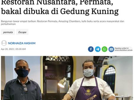 Restoran Nusantara, Permata, bakal dibuka di Gedung Kuning