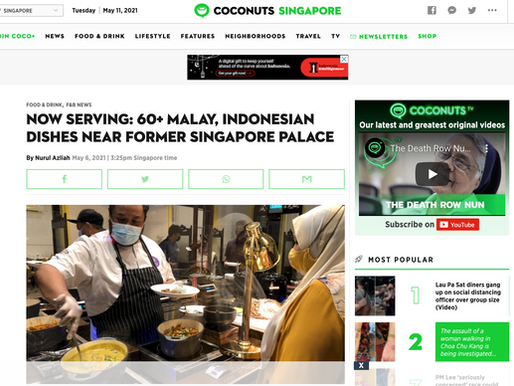 Now serving: 60+ Malay, Indonesian dishes near former Singapore palace