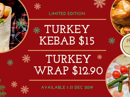 Limited edition Christmas Turkey Kebab & Wrap
