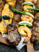 Mixed charcoal grilled kebabs
