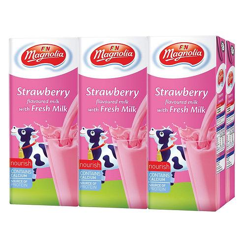 Magnolia UHT strawberry milk (250ml x 6packs)