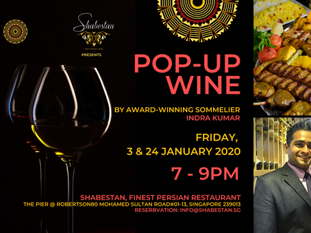 Pop-up wine events at Shabestan