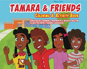 Tamara Goes To School Coloring Book Pic.