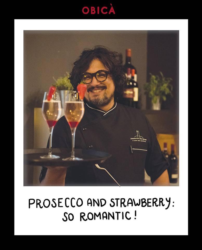 Prosecco e fragole: molto romantico!