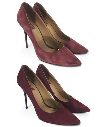 Полное восстановление женских туфель