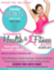 Atlanta Women's Health & Fitness Expo flyer