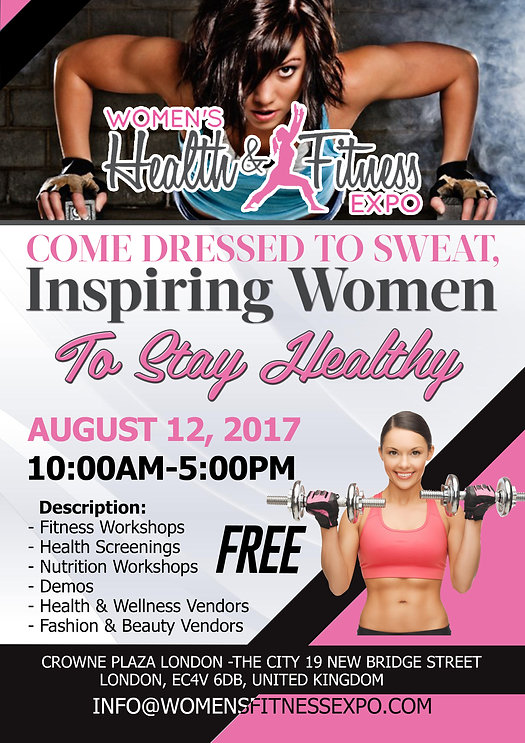 London Women's Health & Fitness Expo flyer