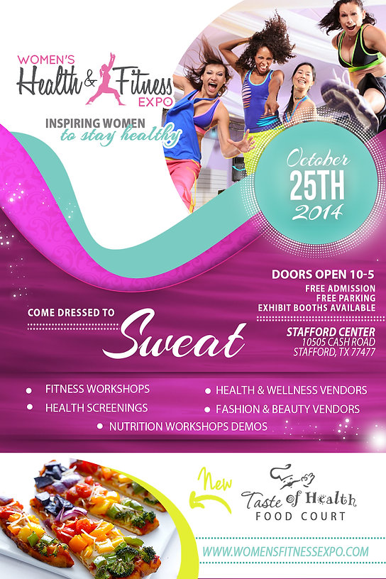 Houston Women's Health & Fitness Expo flyer