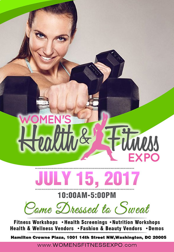Washington D.C. Women's Health & Fitness Expo flyer.