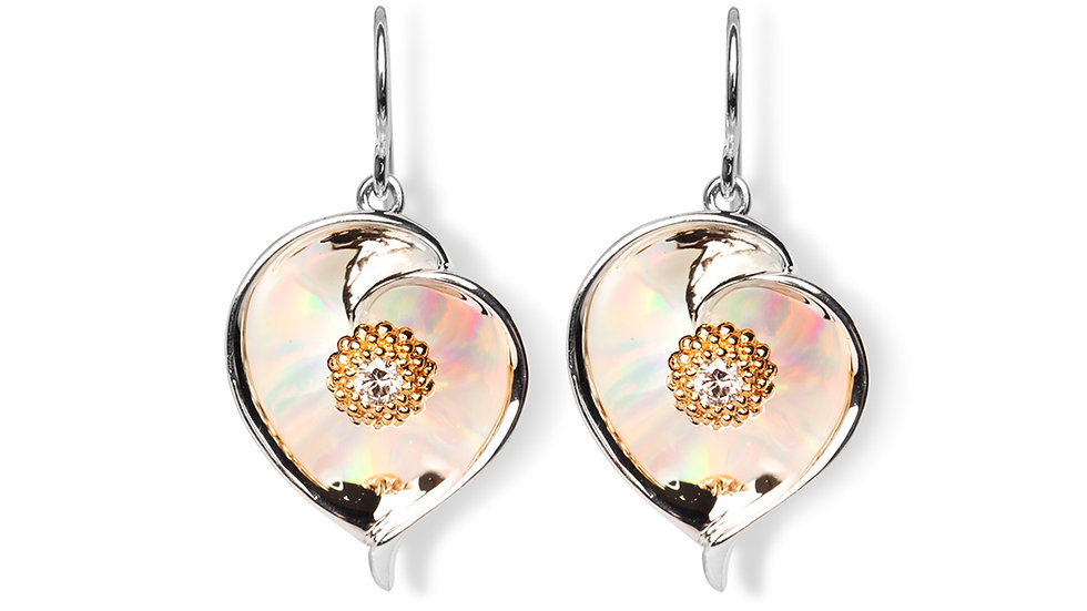 Gloria Calla Lilly Silver w/ gold accents earrings