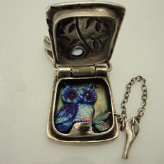 titanium owl in a locket