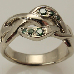 overlapping braided ring