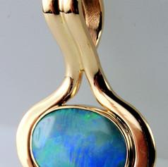 bezel set opal pendant