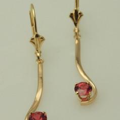 forged drop earrings