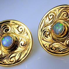 swirls w/ opal centers
