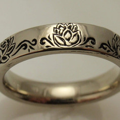 engraved and antiqued engraved band
