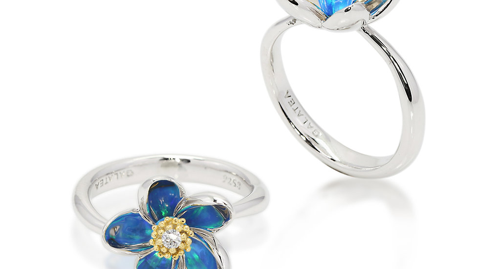 Gloria Plumeria Ring size 7 Silver