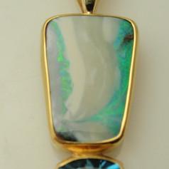 opal and swiss blue topaz