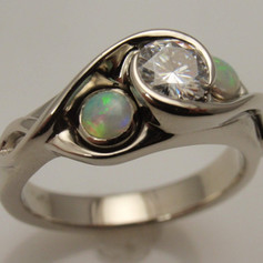 diamond and opal ring