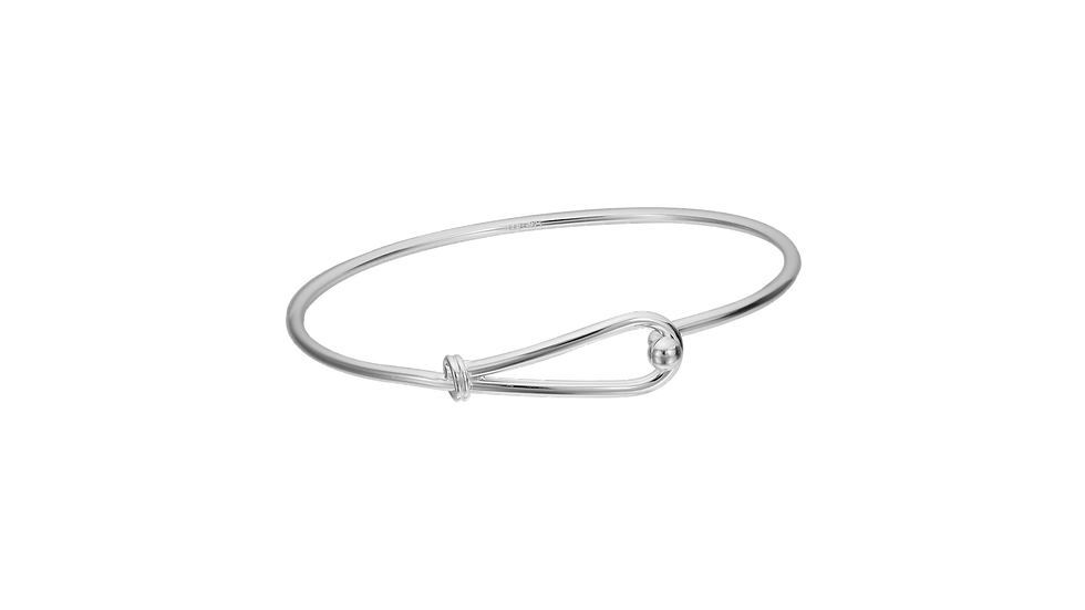 Silver Wire with Looped Closure bracelet
