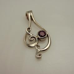 constructed garnet pendant
