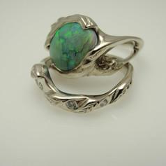 opal wedding set
