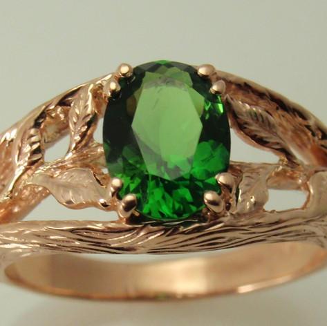 organic ring in rose gold