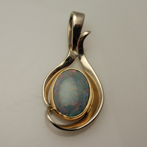 opal constructed pendant