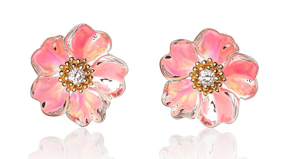 Cherry Blossom Stud Earrings