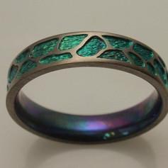 carved titanium ring