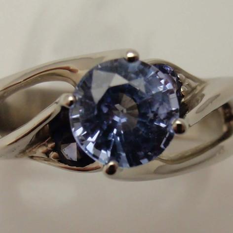 freeform sapphire ring