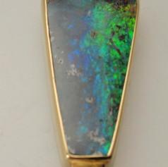 bezel set ammolite pendant