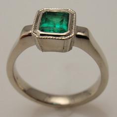 emerald w/ milgrained edge