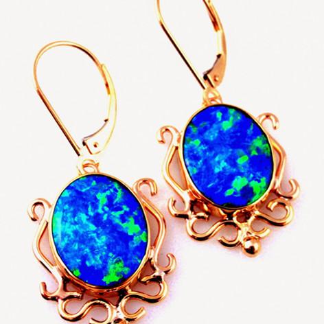 opals w/ hand made filagree