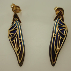 gold and titanium earrings