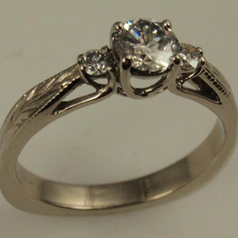 engraved trellis ring