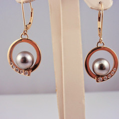 pearl circles w/ diamond accents