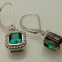 timeless emerald earrings