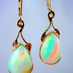 Etheopian leaf drop earrings