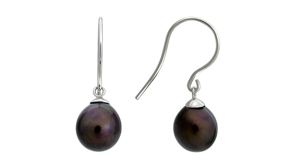 Dark Brown Freshwater Pearl Earrings