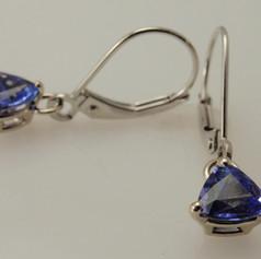 simple leverback drop earrings