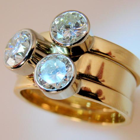 big stackable diamonds and bezels